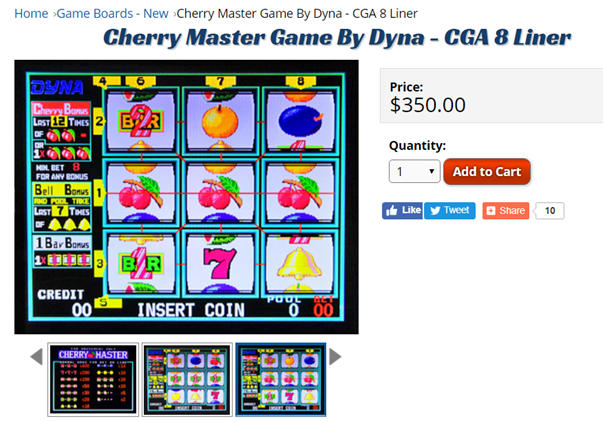 Cherry master pokies for sale