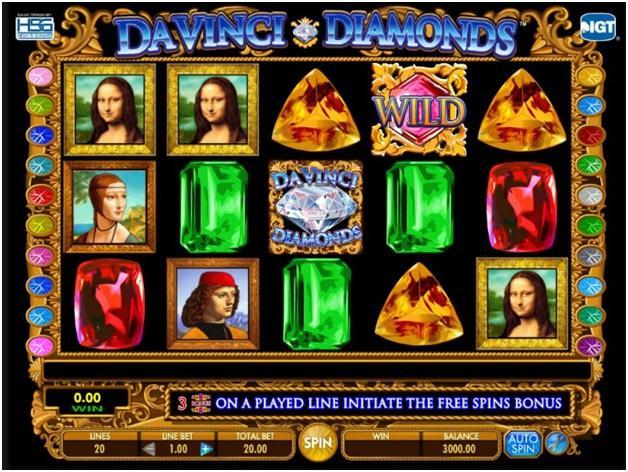 Da Vinci Diamonds Pokies Machine