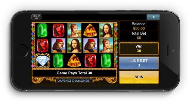 Da Vinci Diamonds Pokies - Mobile version