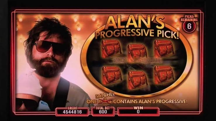 The progressive jackpots in the hangover pokies