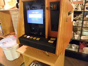 Vintage Coin Operated ARCADE Table Top Bar Machine THE PIT BOSS POKER VIDEO  GAME
